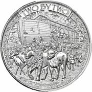 10 - 1 Oz .999 Silver Rounds - Noahand039s Ark - Brilliant Uncirculated - In Stock