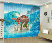 Rooster Blue Spray Adventures Ocean Printing 3d Blockout Curtains Fabric Window