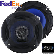 2pcs Car Coaxial Speaker 6.5 Inch 500w Full Range Frequency Speakers For Car Suv