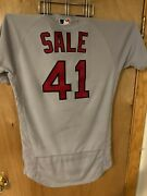 Chris Sale Boston Red Sox 2019 Game Used Jersey 10 Ks Mlb Holo
