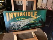 Vintage Invincible Insurance 20 Tin Advertising Sign Watch Video