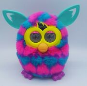 2012 Furby Boom Purple Pink Blue Hearts Interactive Plush Pet Tested And Working