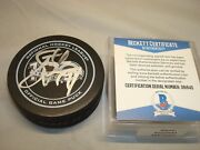Steve Yzerman Signed Official Game Hockey Puck Red Wings Auto. Beckett Bas Coa