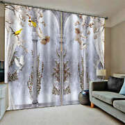 Snow Tree Branches Cross Angel Printing 3d Blockout Curtains Fabric Window