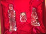 Mib Rare Waterford Crystal Nativity Collection Holy Family 3 Figures