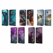 Piya Wannachaiwong Dragons Of Sea And Storms Leather Book Case For Motorola