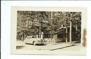 Real Photo Postcard Post Card Callander Onterior On Cabins Gas Station