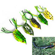 5 Fishing Lures Frog Topwater Crankbait Hooks Bass Bait Tackle Fast Shipping