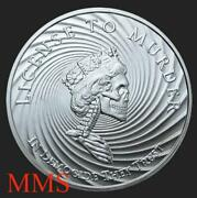 2018 5 Oz Half Proof Democide .999 Silver Shield Group Rare And Hard To Find