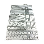 Lot Of 5 Genuine Apple A1243 Wired Aluminum Keyboard With Numeric Keypad Usb