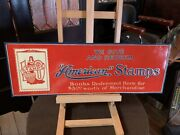 27 American Stamps Tin Embossed Advertising Sign Watch Video
