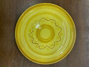 Vintage Pacific Pottery Dinner Plate 613 Yellow W/ Rust Brown Pattern