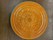 Vintage Pacific Pottery Dinner Plate 613 Orange With Yellow Pattern California