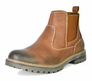 Us Menand039s Work Boots Slip On Chelsea Shoes Lined Chelsea Plain-toe Ankle Boots