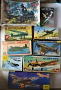 9 Vintage Collectible Model Fighter Bomber Jets War Planes European Military