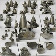 Walt Disney Hudson Pewter Snow White And The Seven Dwarfs Figurines Missing One