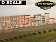 O Scale Apartment Combo 1 2 And 3 Set Of 3 Building Flat/front Background
