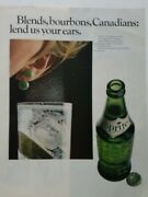 1966 Sprite Soda Green Bottle Blends Bourbons Canadians Lend Us Your Ears Ad