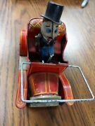 Vintage Grandpa's New Car Toy Tin Wind-up Windup Unknown Maker