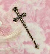 Antique Brass Sword Medieval Cross Stamping Jewelry Oxidized Finding Fb-6101