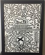 Vintage 1982-haring Anti-nuclear Weapons Rally Poster-18x24-rare