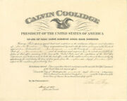Calvin Coolidge - Civil Appointment Signed 01/17/1924 Co-signed By Harry S. New