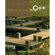 Problem Solving With C++ Walter Savitch 8th Edition Paperback With Access Code