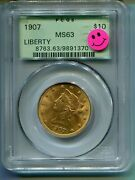 1907 10 Liberty Eagle Pcgs Ms63 Ms-63 Old Green Holder Ogh Premium Quality P.q.