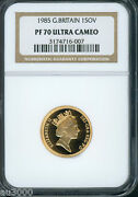 1985 Great Britain Full Proof Gold Sovereign Ngc Pf70 Pr70