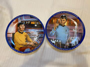 Star Trek Dr. Mccoy And Sulu Limited Edition Collector's Plates - 1984 - No Box