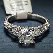 Verragio D124r-o Engagement Ring 14k White Gold With 14k Red Gold Accents