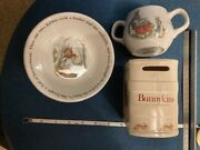 Wedgewood Beatrix Potter Peter Rabbit Child Cup Bowl And Bank