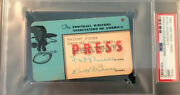 1965-66 Joe Namath Debut Psa Pass Ticket 1sttd/win Fwaa New York Jets Afl/nfl