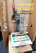 Hot Foil Stamping Machine Lightly Used Kwikprint 55 1 X 5.75 Free Shipping