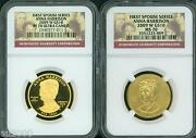 2009-w 10 Gold Spouse Anna Harrison Ngc Pr70 Pf70 And Ms70 2-coins Set