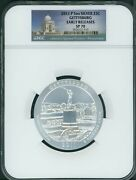 2011-p Gettysburg America Beautiful Atb 5 Oz Silver Ngc Sp70 Early Releases Er