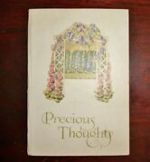 Precious Thoughtsandnbsp 1890and039s -1900and039s Vintage Booklet Cupples And Leon Nycandnbsp
