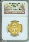 2009-w 10 Gold Commemorative First Spouse Julia Tyler Ngc Ms70 Ms-70 1/2 Oz.