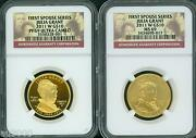 2011-w 10 Gold Spouse Julia Grant Ngc Pr69 Pf69 And Ms69 2-coins Set