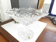 Waterford Crystal Artisan 10 Footed Compote Bowl Made In Ireland - Mint / Box