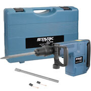 1500w Electric Rotary Hammer Sds Max W/ Point And Flat Chisel Set Carrying Case