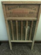 Vintage National Washboard Co. 801 The Brass King Wash Board 24 Tall