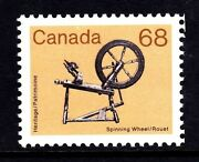 Canada No 933 Artifact Definitive Antique Spinning Wheel Mint Nh
