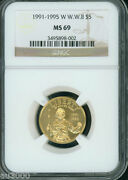 1991-1995-w 5 Gold Commemorative World War Ii Wwii Ngc Ms69 Ms-69