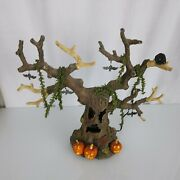 Large Dept 56 Haunted Tree 35020 Halloween Spooky Sounds Lights And Motion