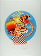 Stanley Mouse - Ice Cream Kid Giclee Print 17 X 23 Signed Le/100 Grateful Dead