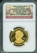 2012-w 10 Gold First Spouse Caroline Harrison Ngc Pf70 Pr70 Proof Early Release