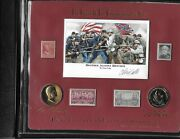 Grant And Lee Commemorative Set Stamps Gold Medals Limit Edition Signed Civil War