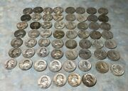 35 Face Value Lot 90 Silver Dimes20 And Quarters15unsearched