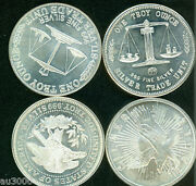 19 1 Oz. Silver Bullion Rounds Various Designs Medallions Ready To Ship